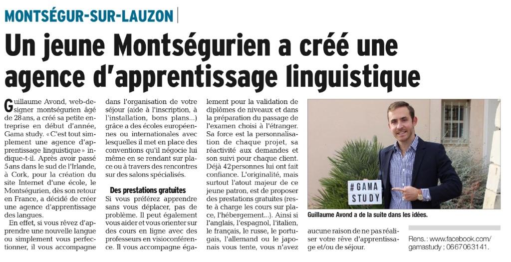 GAMA Study est dans la presse: Le Dauphiné Libéré