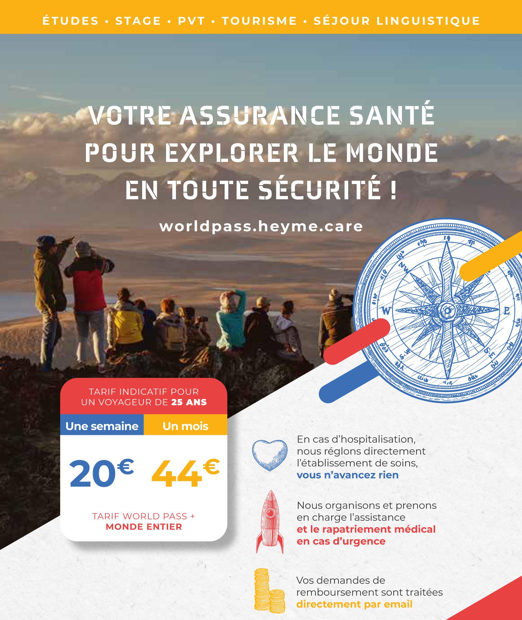 Heyme - Assurance voyage pour étudiants